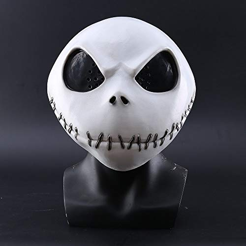New The Nightmare Before Christmas Jack SkellingtonWhite Latex Mask Play Props Halloween Party Mischievous Horror Mask ()