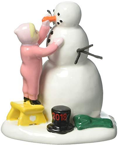 Department 56 Lucky The Snowman 2018 Figurine Village Accessory, Multicolor