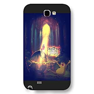 Customized Black Frosted Disney Cartoon Princess And The Frog Samsung Galaxy Note 2 Case