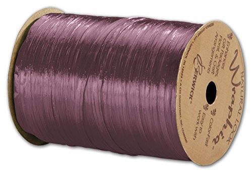 Solid Raffia - Pearlized Wraphia Wine Ribbon, 1/4