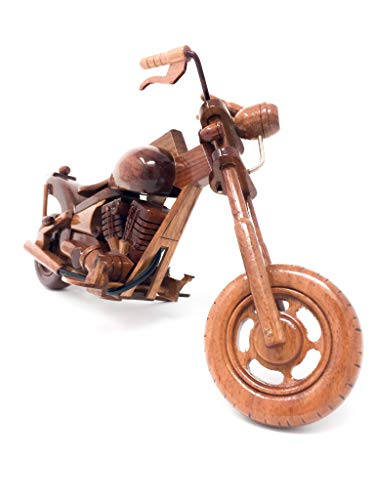 Chopper Motorcycle Replica Model Hand Crafted with Real Mahogany Wood