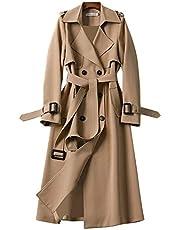 Dames trenchcoat blazer dames elegante lange jas vrouwelijke trenchcoat lange parka overgangsjas bindriem jas blazer jassen herfst lente jas winddichte jas jas jas blazer jassen