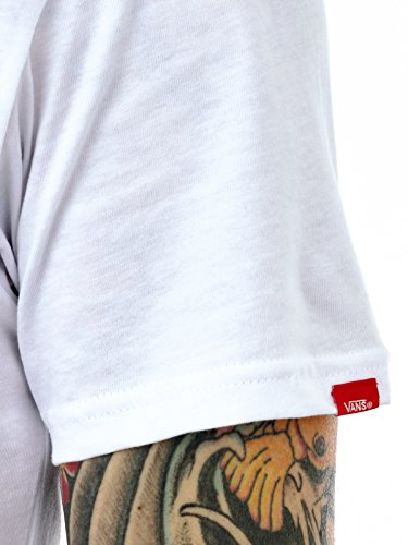 Vans T-Shirt Classic Logo Fill Weiß-Hula (Large , Weiß)
