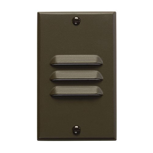 Kichler  12656AZ Interior Vertical Louver LED Indoor Step and Hall Light, Architectural Bronze