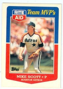 Mike Scott Baseball Card Houston Astros 1986 Cy Young Winner 1988