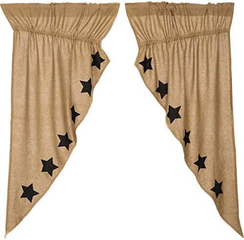 VHC Brands Burlap - a good cheap window curtain panel