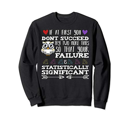 If At First You Don't Succeed Chemistry Biochemistry Science Sweatshirt