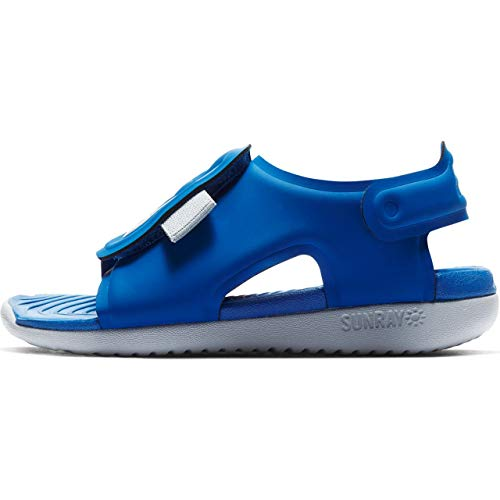 Nike Boy's Sunray Adjust 5 Toddler Sandal, Game Royal/Wolf Grey, Size 9 M US Toddler