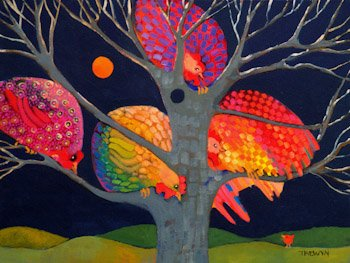 ting Chickens By Leslie Trewyn Needlepoint Canvas ()