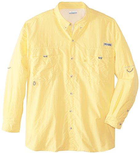 Columbia Men's Bahama II Long Sleeve Shirt, 2X, Sunlit