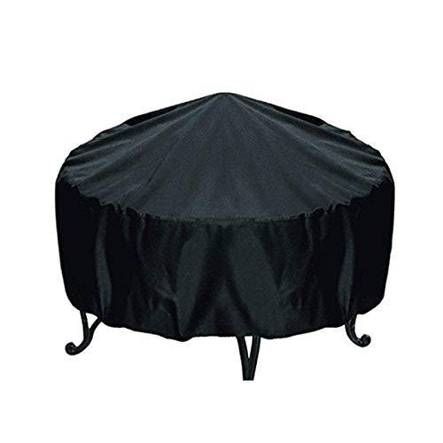 AbuChan - Cubierta Protectora Redonda para Hoguera, Impermeable, Resistente al Polvo, para Exteriores, jardín, Patio, con cordón para Estufa: Amazon.es: ...