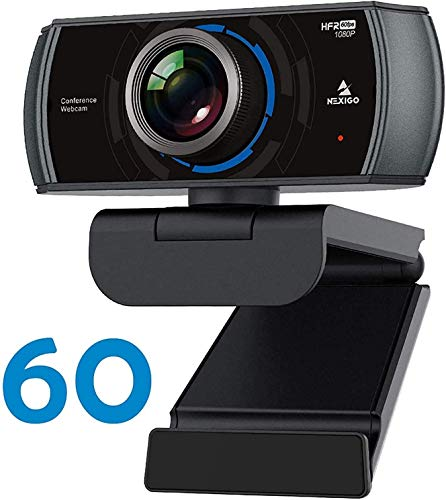 1080P 60FPS Webcam with Microphone 2021 NexiGo N980P HD USB Computer Camera Built in Dual Noise Reduction