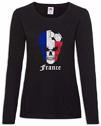 Manga De – Football France T Mujer 2xl Skull I Woman Xs shirt Largatamaños Z8POWZqd