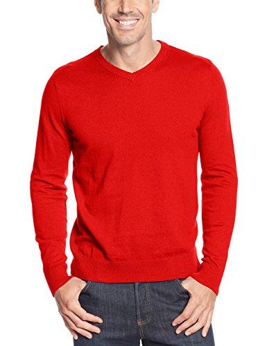 UPC 636193216470, John Ashford Ruby Mens Small Lightweight V-Neck Pullover Sweater Red S