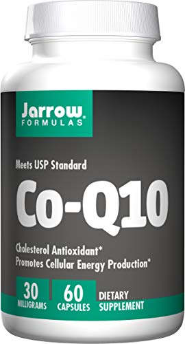 Jarrow Formulas CoQ10, Supports Cellular Energy and Cholesterol, 30 mg, 60 Capsules