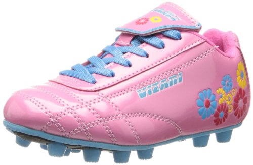 Vizari Blossom Soccer Cleat - Pink/Blue, 11.5 M US Little - Girls Cleats Soccer Pink