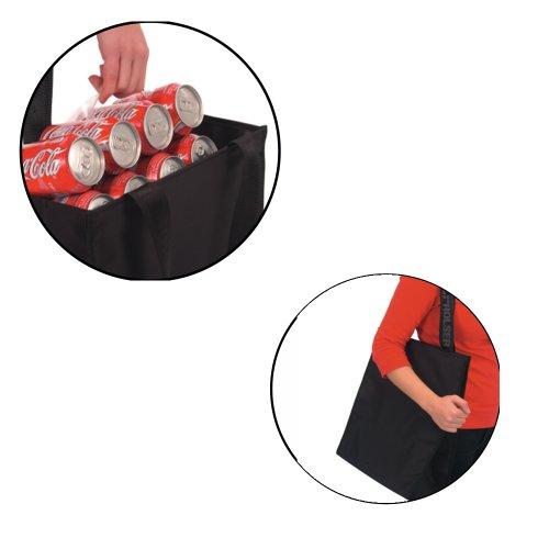 ROLSER Shopping Bag Flora - Bolsa de asa superior de sintético unisex Blanco/Negro