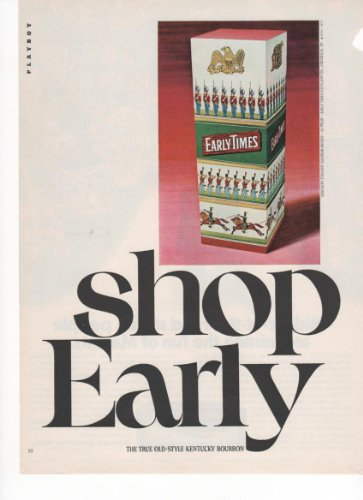 Early Times Old-Style Kentucky Bourbon Gift 1971 Vintage, used for sale  Delivered anywhere in USA
