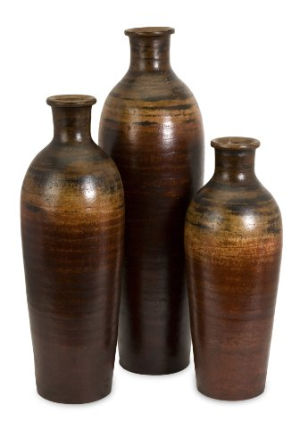Imax Benito Vases - Set of Three, 7x7x19