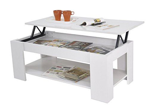 Astonishing Kimberly Lift Up Top Coffee Table Storage Shelf Choice Colour White Squirreltailoven Fun Painted Chair Ideas Images Squirreltailovenorg