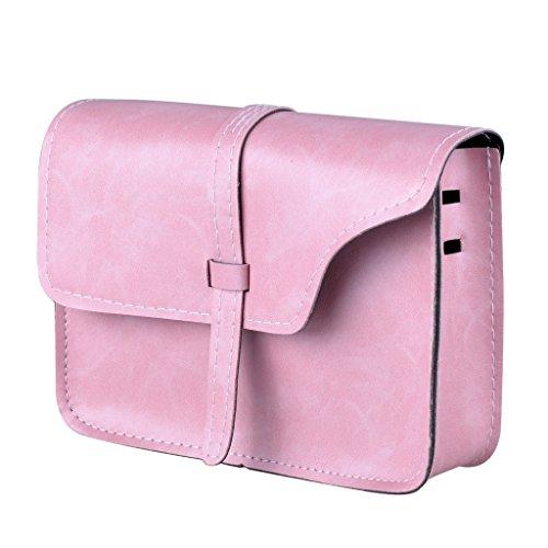 Cross Fashion Leather Shoulder Women's QZUnique Bag Soft Style PU Vintage Pink Body tnCUC4q0x