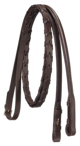 Silver Fox Raised Laced Reins - Brown ()