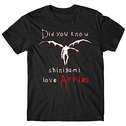 Nero Manga N003 Apple D T Shinigami 100 Uomo Cotone Death Note shirt Lamaglieria Maglietta 4wH1OqH