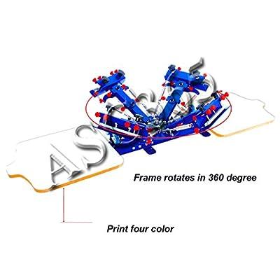 Micro Registration Screen Printing 4 Color Printer Fine-tunning DIY Machine New Upgrade Printer