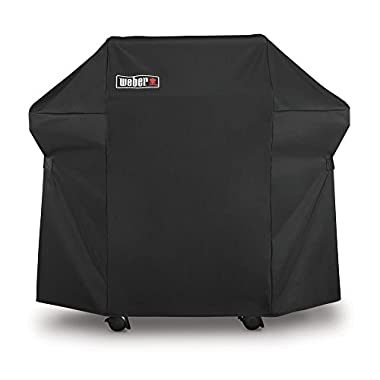 Weber 7106 Grill Cover with Storage Bag for Spirit 220 and 300 Series, 52 x 42.8-Inch, Black