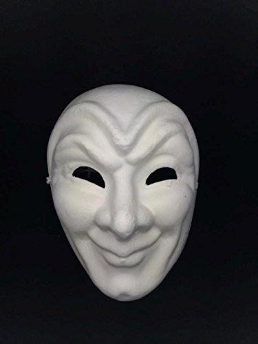 Half Style Mask (Jabbawockeez Style Venetian Masquerade White Creepy Face Mask)