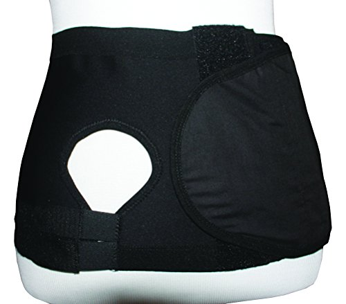 Safe n' Simple Right Hernia Support Belt with Adjustable Hole, 20cm, Black, X-Small by Safe n' Simple