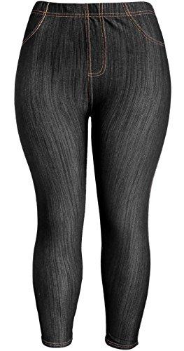 Plus Size Denim Leggings - 8
