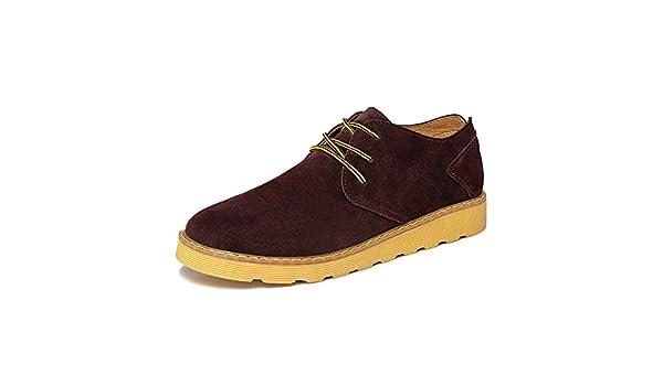 Otoño hombres zapatos/Zapatos de gamuza de registro/Calzado transpirable-D Longitud del pie=24.3CM(9.6Inch)
