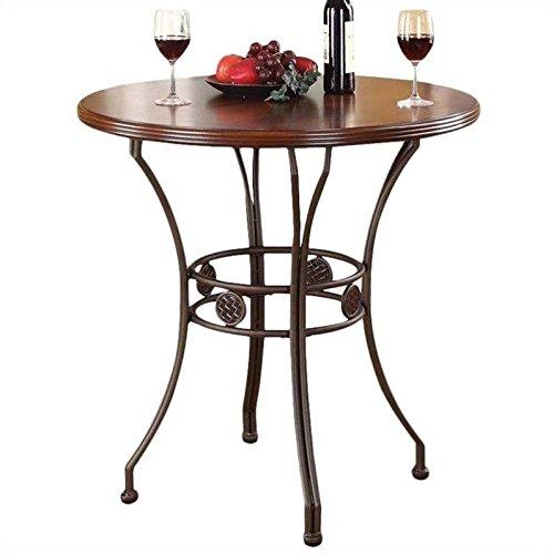 ACME Furniture Tavio Counter Height Table in Walnut and Dark Bronze - Acme Furniture Walnut Finish