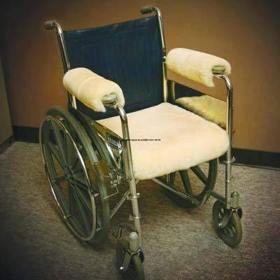 SHP111 - Sofsheep Sheepskin Wheelchair Seat Pad, Standard Adult, 18 x 16, Beige