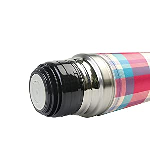 My Little Nest Vacuum Insulated Water Bottle Retro Red Blue Beige Tartan Stainless Steel Travel Mug thermos Flask 500ML