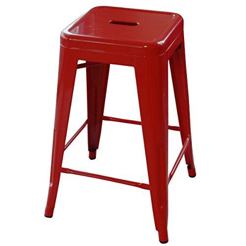 Amerihome 2 Piece Metal Bar Stool Red 24 Inch Buy