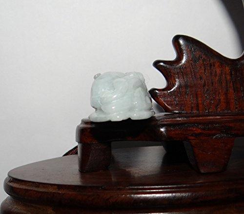 2 China Certified Nature Hisui Jadeite Jade Grade A Wealth Pixiu and Ruyi Necklace Pendants