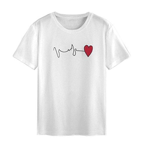 (ANJUNIE tops Women's Blouse,Summer Rainbow Block Striped Crop Top Casual Girl Teen T Shirts (White1, M))