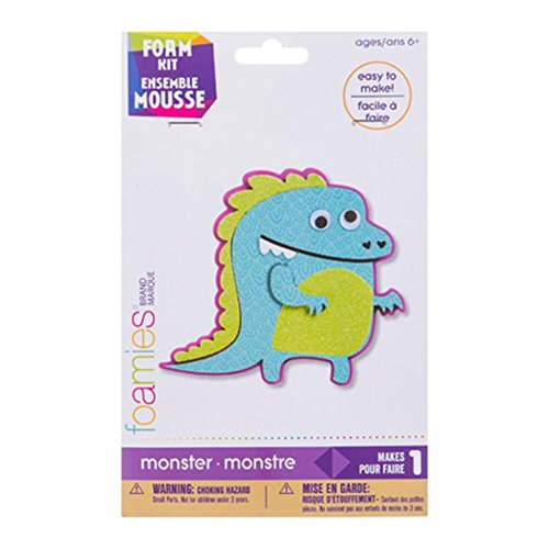 Darice 30024022 Foamies Monster Activity Kit: Foam - 4.5 inches Multi