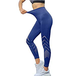2cf278fc4fdc MINXINWY_Leggins de mujer Fitness Push up, Leggings Yoga Correr Pantalones  Mujeres de Color sólido de
