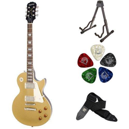 Amazon Com Epiphone Les Paul Standard Electric Guitar Ebony
