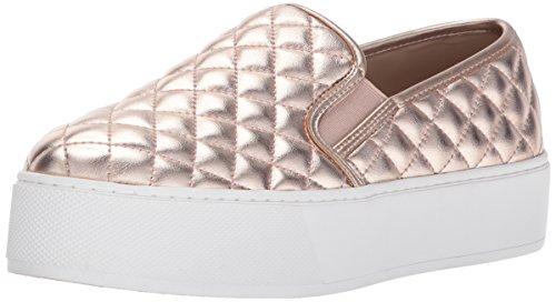 Steve Madden Womens Ecentrcqp Fashion Sneaker Oro Rosa
