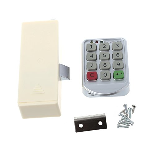 Youngy Electronic Digital Keypad Supermarket Cabinets Door Code Number Password Lock (Golf Greens Address Plaque)