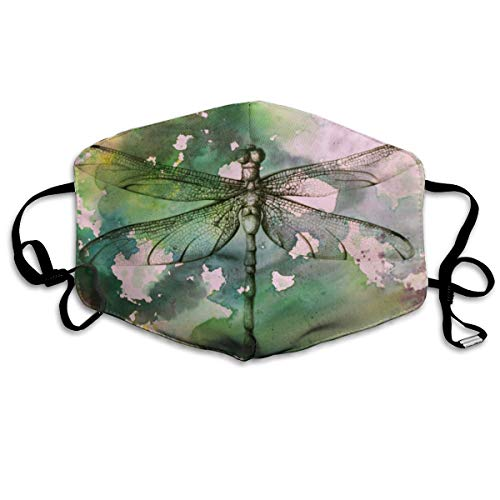 - BLongTai Mouth Cover Mask Colorful Watercolor Dragonfly Fashion Anti Dust Half Face Masks