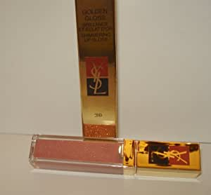 YSL Golden Gloss Shimmering Lip Gloss#38 0.2 Oz 6ml