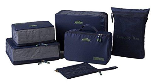 Waterproof 5-Piece Packing Bags (Red) - 4