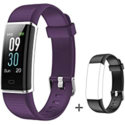 Willful Fitness Tracker, Heart Rate Monitor Fitness Watch Activity Tracker(14 Modes) with Step Counter Sleep Monitor Call SMS SNS Notice for Women Men Kids (Color Screen,IP68 Waterproof,Extra Band)