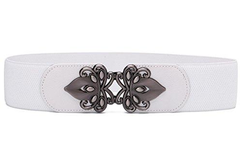 - Syuer Womens Vintage Wide Elastic Stretch Waist Belt Retro Cinch Belt (XL-XXL (35