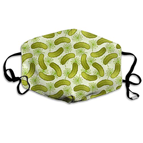(SyjTZmopre Pickle Cucumber Mouth Mask Unisex Printed Fashion Face Anti-dust)